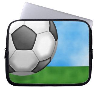 Soccer Background Laptop Sleeve