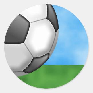 Soccer Background Round Stickers
