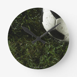 Soccer Ball 4 Round Clock