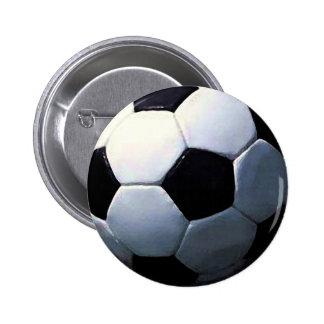 Soccer Ball 6 Cm Round Badge