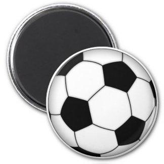 Soccer ball 6 cm round magnet