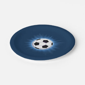 Soccer Ball 7 Inch Paper Plate
