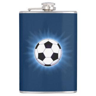 Soccer Ball 8 oz Vinyl Wrapped Flask
