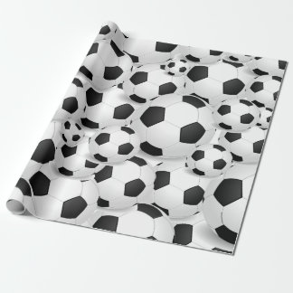 Soccer Ball all over giftwrap Wrapping Paper