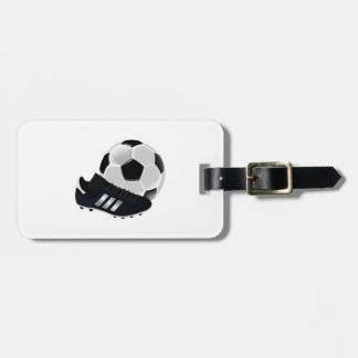 Soccer Ball and Cleats Luggage Tag