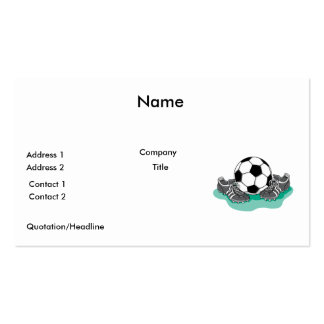 soccer ball and cleats vector design business card template
