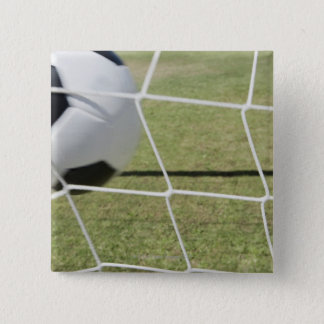 Soccer Ball and Goal 15 Cm Square Badge