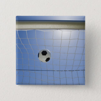 Soccer Ball and Goal 2 15 Cm Square Badge