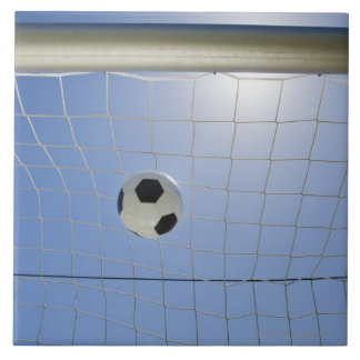 Soccer Ball and Goal 2 Large Square Tile