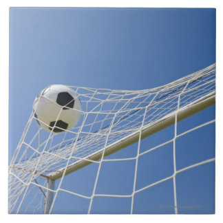 Soccer Ball and Goal 3 Large Square Tile