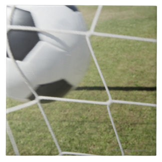 Soccer Ball and Goal Large Square Tile