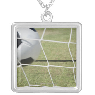 Soccer Ball and Goal Silver Plated Necklace
