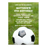 Soccer Ball and Grass Birthday Party Invitations 13 Cm X 18 Cm Invitation Card