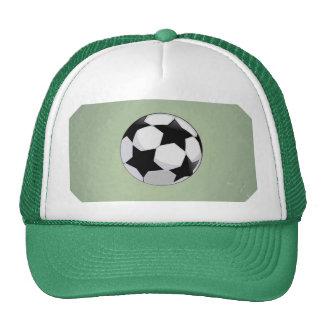 Soccer Ball and Green Vintage Background Cap