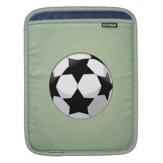 Soccer Ball and Green Vintage Background iPad Sleeves