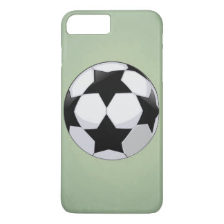 Soccer Ball and Green Vintage Background iPhone 7 Plus Case
