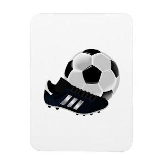 Soccer Ball and Shoe Rectangular Photo Magnet