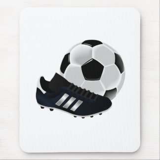 Soccer Ball and Shoe Mouse Pad