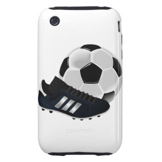 Soccer Ball and Shoe Tough iPhone 3 Cover