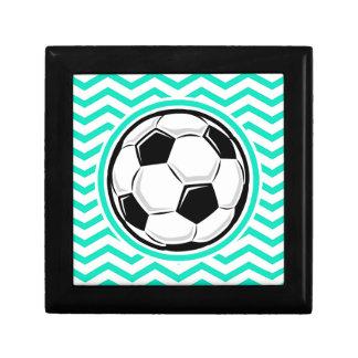 Soccer Ball Aqua Green Chevron Gift Boxes