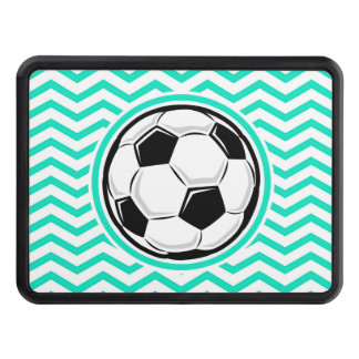 Soccer Ball Aqua Green Chevron Hitch Covers