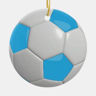 Soccer Ball | Baby Blue Christmas Ornament