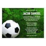 Soccer Ball Bar Mitzvah Personalised Invitations