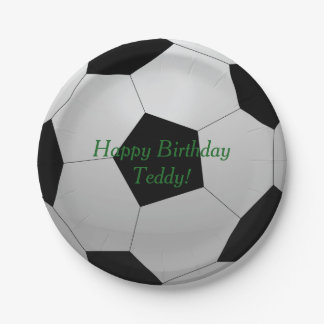 Soccer Ball Birthday Party 7 Inch Paper Plate