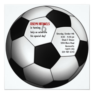Soccer Ball Birthday Party Invitation