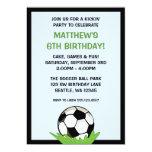 Soccer Ball Birthday Party Invitations