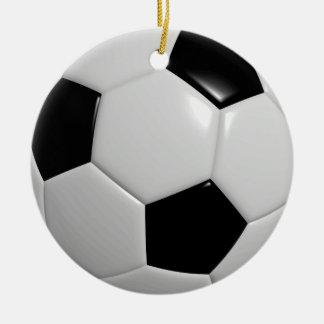 Soccer Ball | Black Christmas Ornament