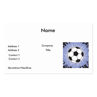 soccer ball blue flames pack of standard business cards