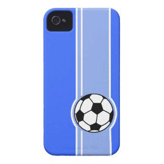 Soccer Ball; Blue iPhone 4 Case-Mate Case