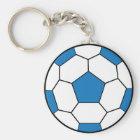 Soccer Ball Blue Keychain