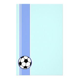 Soccer Ball; Blue Stationery