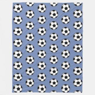 Soccer Ball Blue TP Fleece Blanket