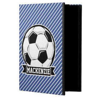 Soccer Ball, Blue & White Stripes, Sports iPad Air Cover