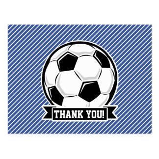 Soccer Ball, Blue & White Stripes, Sports Post Cards