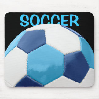 Soccer Ball Blues Mouse Pads