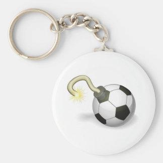 Soccer ball bomb concept key chain