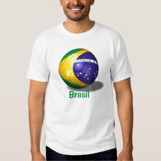 soccer ball brazil, Brasil Tee Shirts