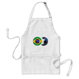 Soccer Ball & Brazil Flag The MUSEUM Zazzle Standard Apron