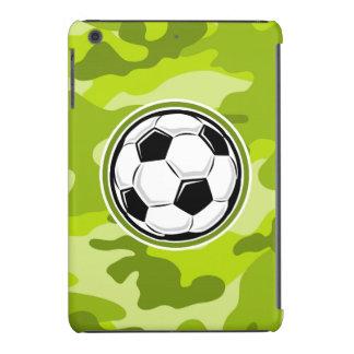 Soccer Ball; bright green camo, camouflage iPad Mini Retina Cases
