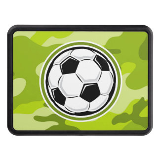 Soccer Ball bright green camo camouflage Tow Hitch Cover