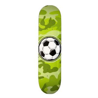 Soccer Ball bright green camo camouflage Skateboard Decks