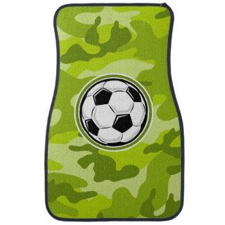 Soccer Ball bright green camo camouflage Floor Mat