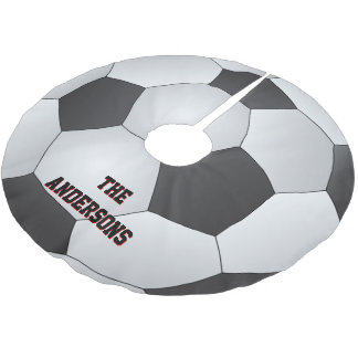 Soccer Ball Brushed Polyester Tree Skirt