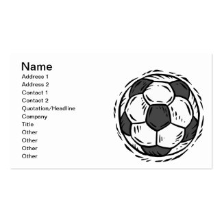 Soccer Ball Double-Sided Standard Business Cards (Pack Of 100)