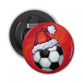Soccer Ball Christmas Button Bottle Opener