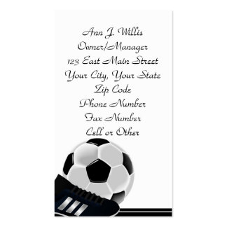 Soccer Ball Class Business Occupation Professional Business Card Template